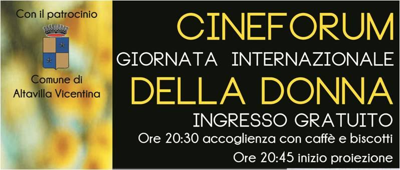 Cineforum 8 marzo